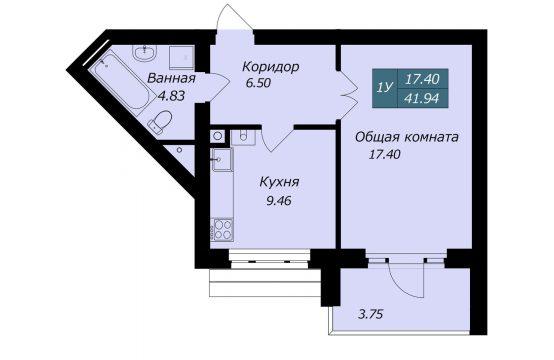1-комнатная квартира в Бресте