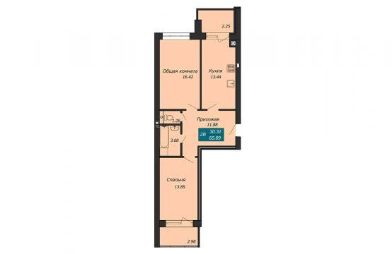 Двухкомнатная квартира в Бресте