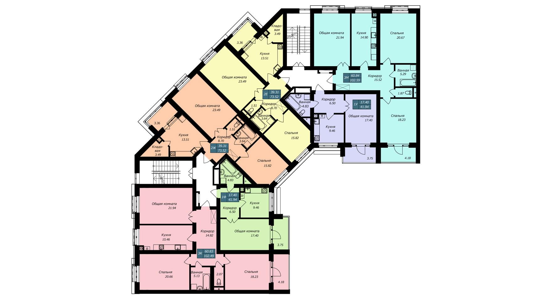 Секция Б, 2 этаж