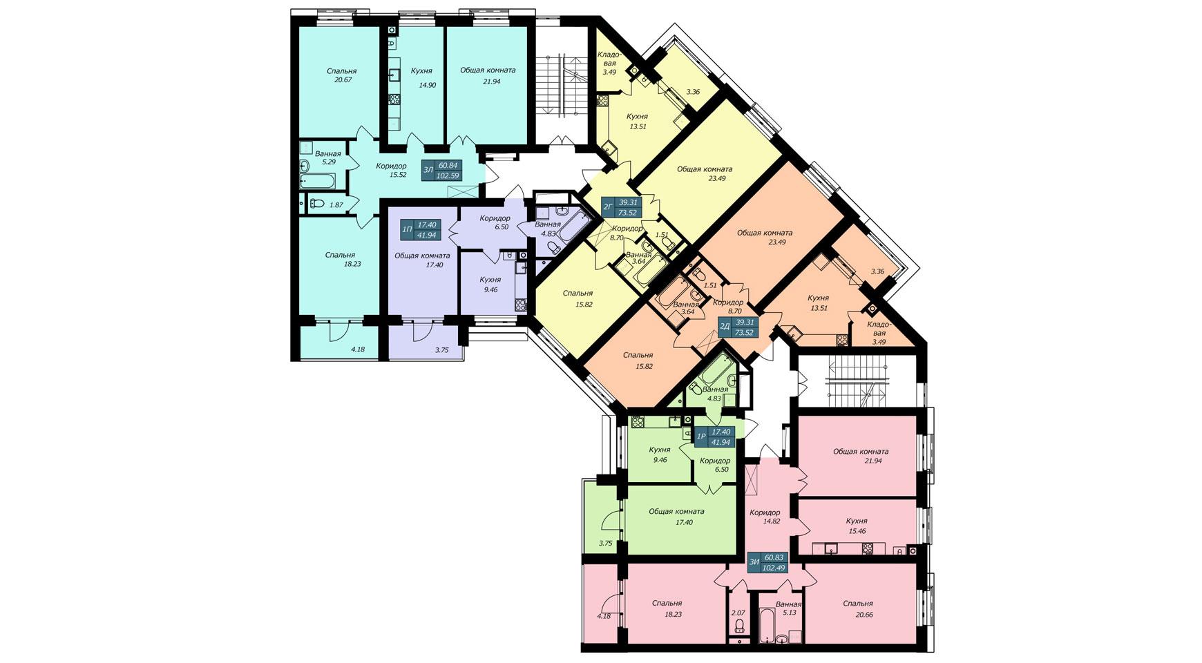 Секция Б1, 2 этаж