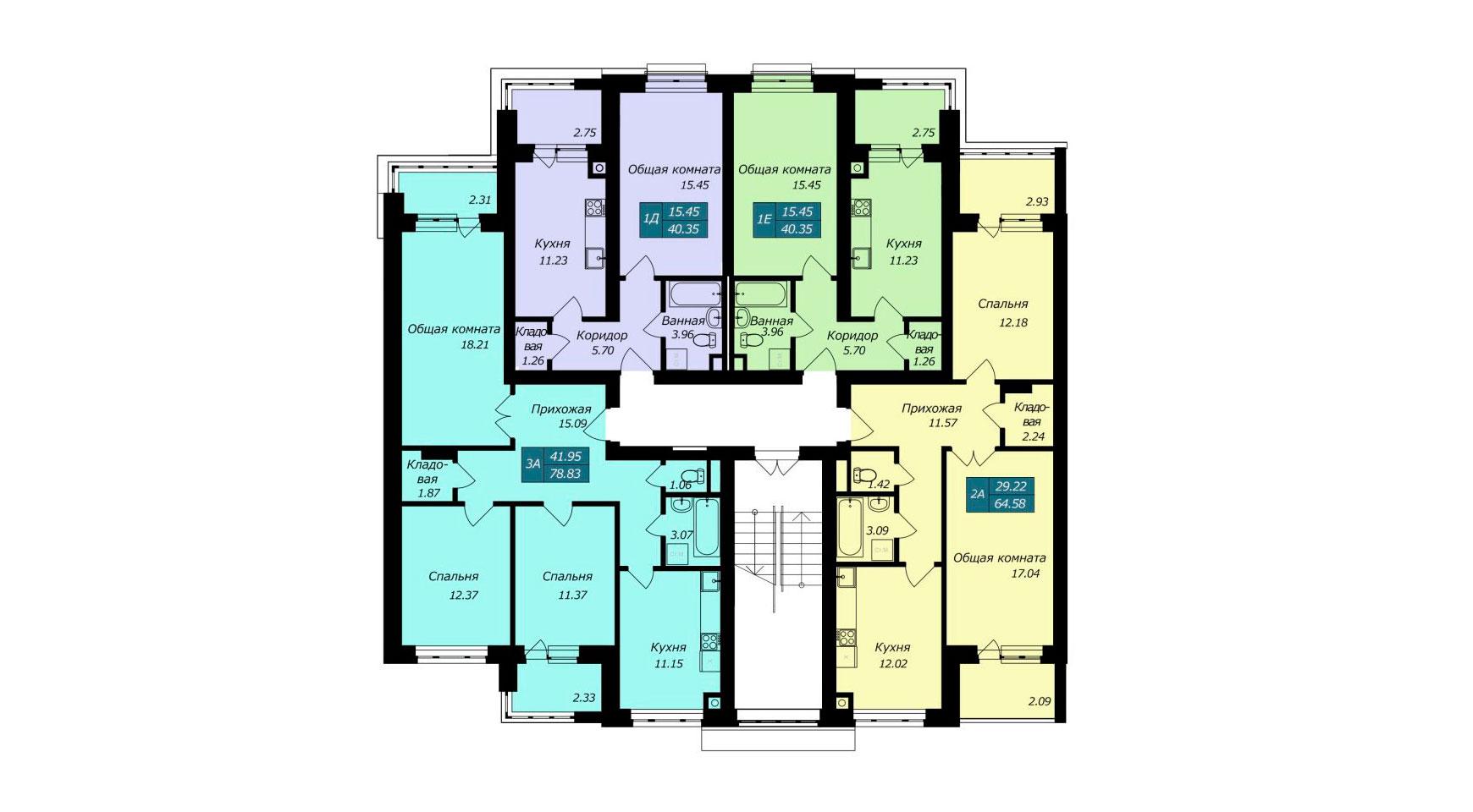 Секция Д, 2 этаж