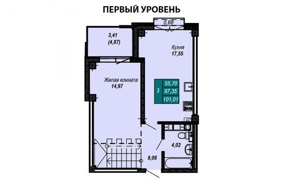 Квартира №18 (двухуровневая квартира)