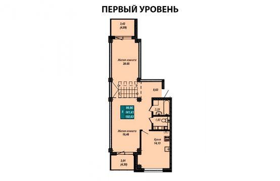 Квартира №37 (двухуровневая квартира)