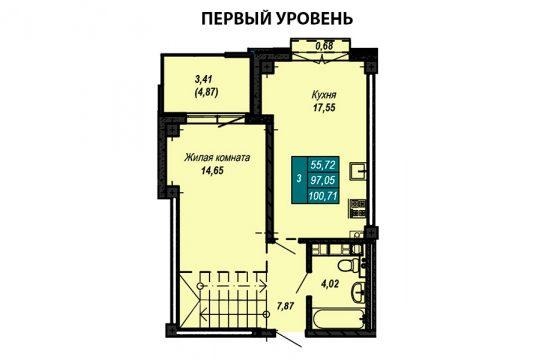 Квартира №38 (двухуровневая квартира)