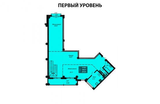 Квартира №35 (двухуровневая квартира) (не продается)