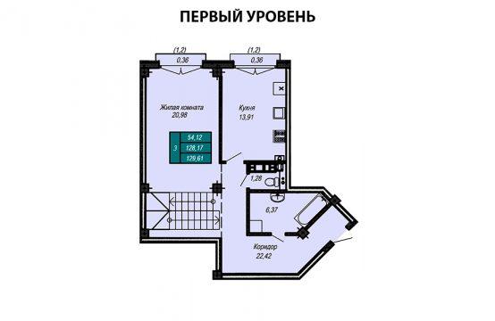 Квартира №36 (двухуровневая квартира) (не продается)