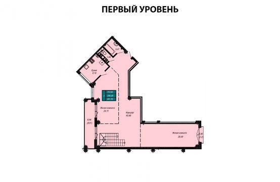Квартира №40 (двухуровневая квартира) (не продается)