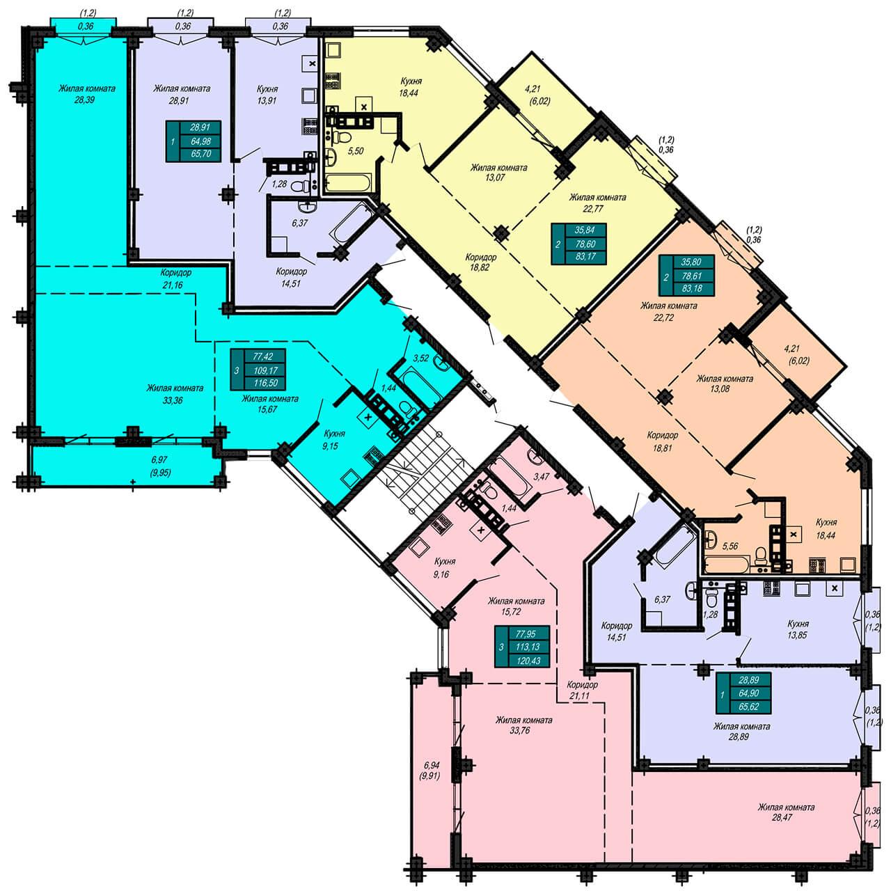 Секция Б, 4 этаж