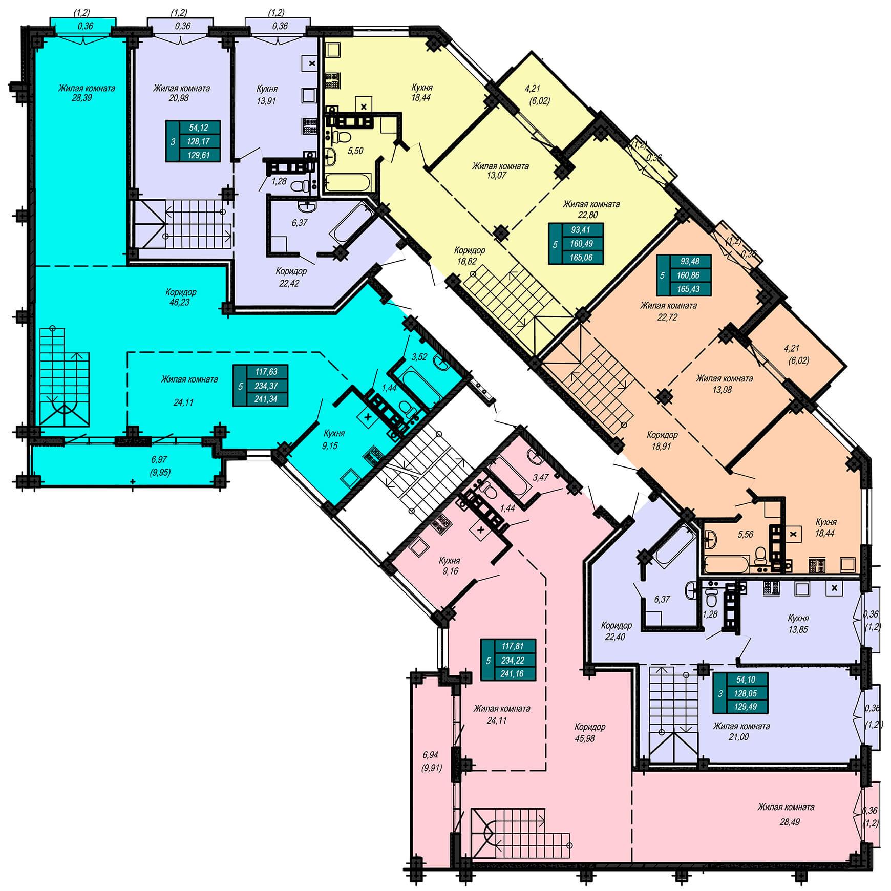 Секция Б, 5 этаж