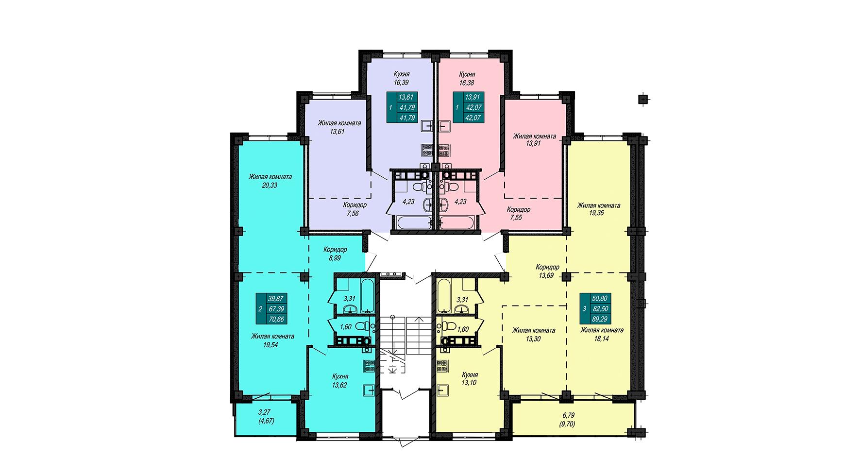 Секция Д, 1 этаж