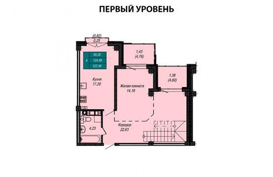 Квартира №15 (двухуровневая квартира) (не продается)