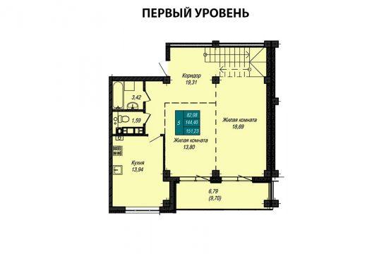 Квартира №16 (двухуровневая квартира) (не продается)