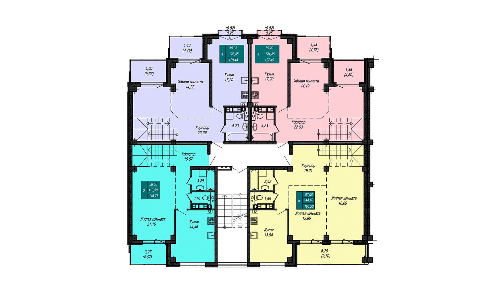 Секция Д, 4 этаж