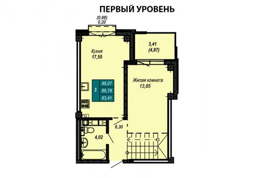 Квартира №19 (двухуровневая квартира)