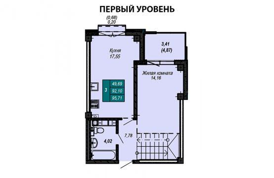 Квартира №39 (двухуровневая квартира)