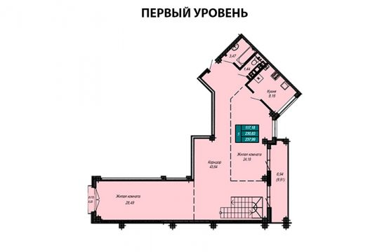 Квартира №59 (двухуровневая квартира)