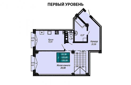 Квартира №60 (двухуровневая квартира)