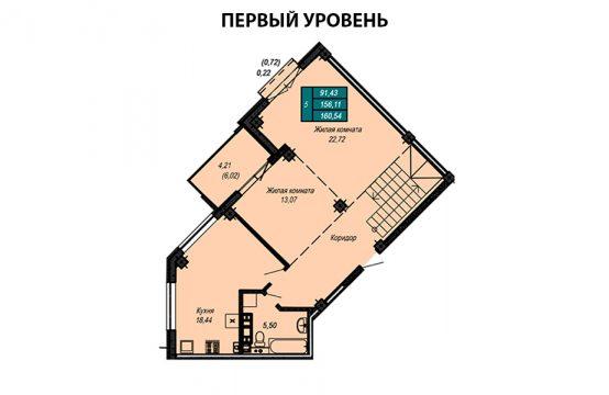 Квартира №61 (двухуровневая квартира)