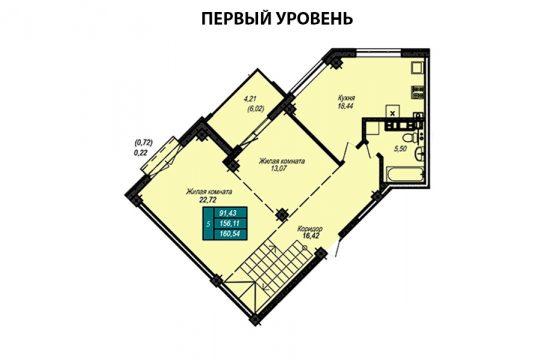 Квартира №62 (двухуровневая квартира)