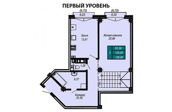 Квартира №63 (двухуровневая квартира)