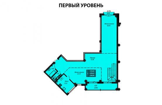 Квартира №64 (двухуровневая квартира)