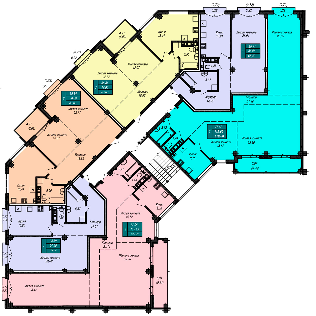 Секция Б1, 4 этаж