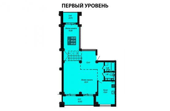 Квартира №57 (двухуровневая квартира) (не продается)