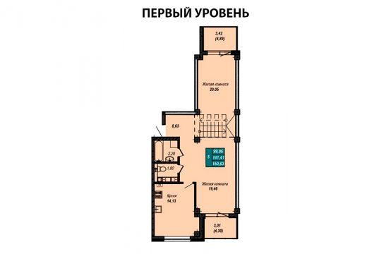 Квартира №60 (двухуровневая квартира) (не продается)