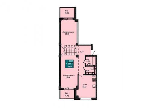 Квартира №77 (двухуровневая квартира) (не продается)