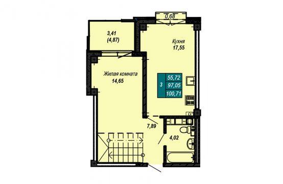 Квартира №78 (двухуровневая квартира) (не продается)