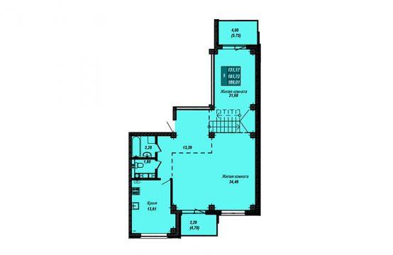 Квартира №80 (двухуровневая квартира) (не продается)