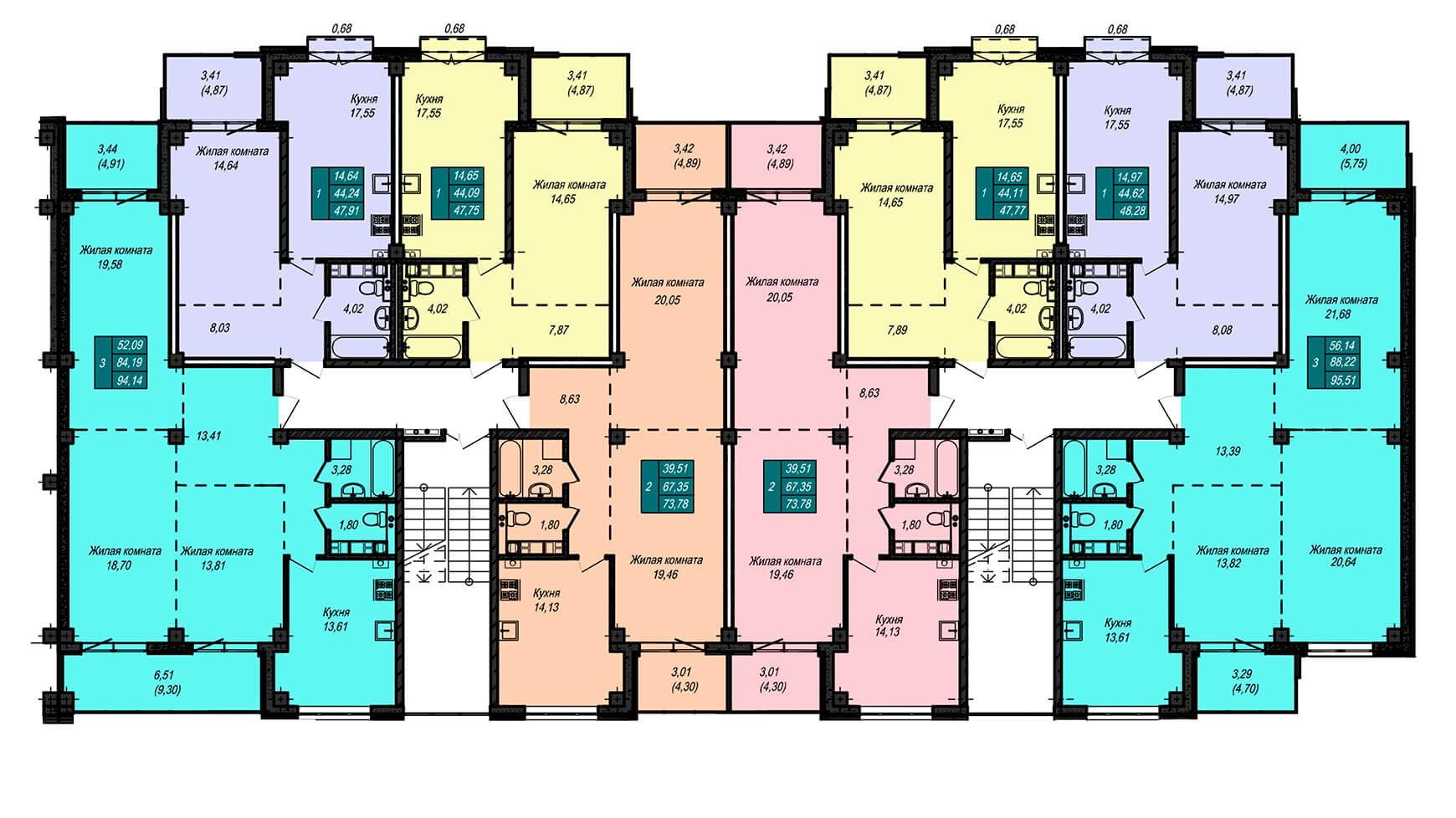 Секция В, 2 этаж