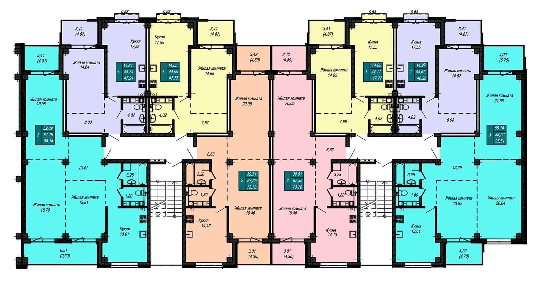 Секция В, 3 этаж