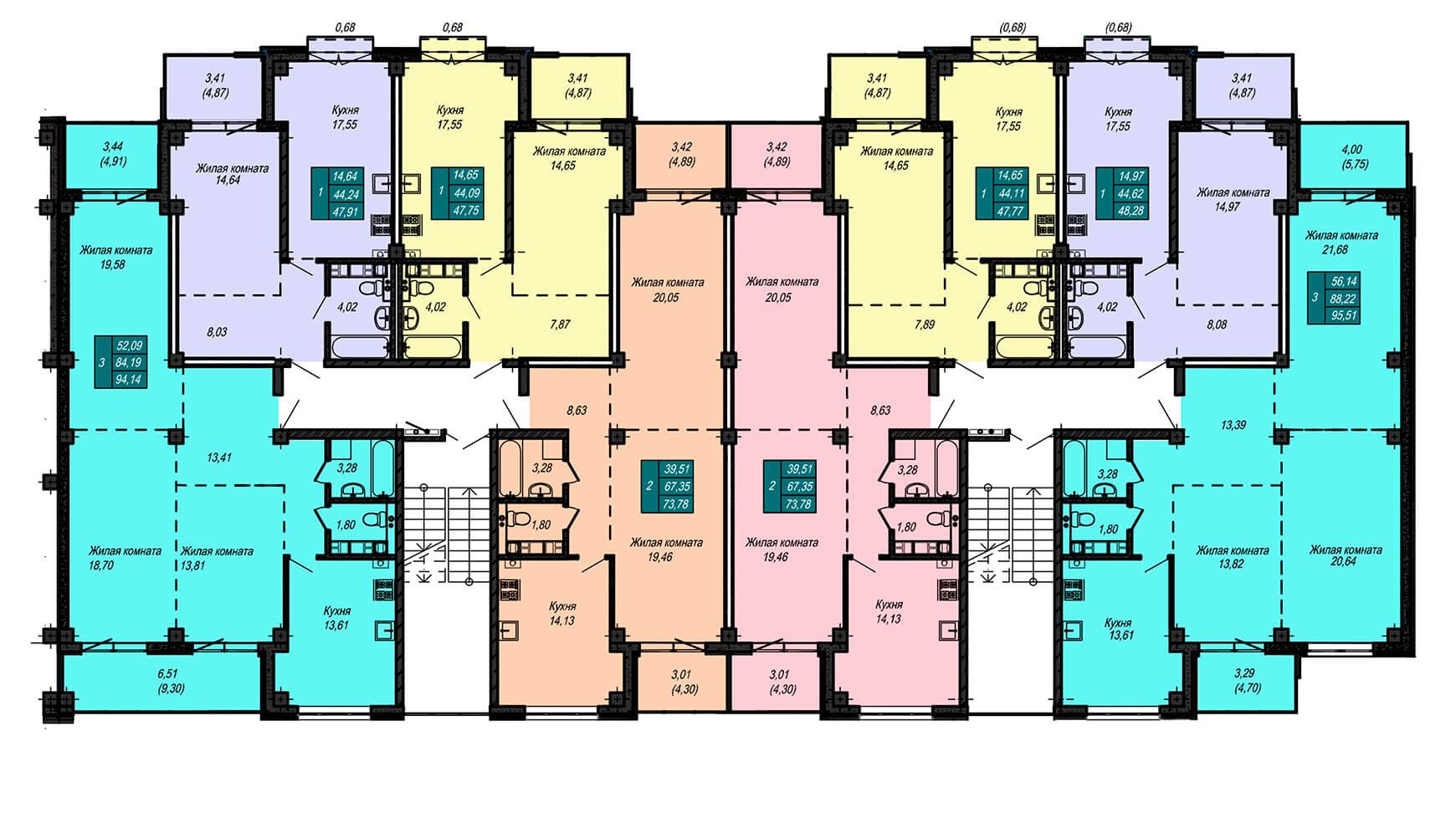 Секция В, 4 этаж